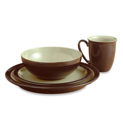 Denby USA Limited Duet Chestnut/Apple 4-Piece Place Setting