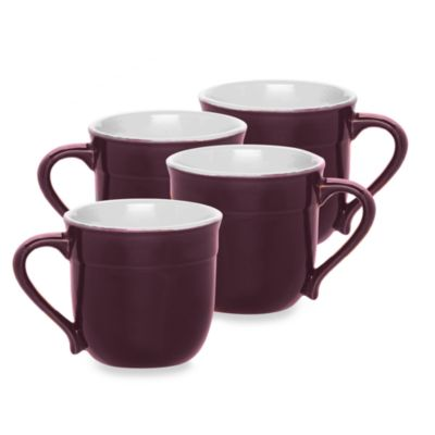 Emile Henry 4-Piece Plum Mug Set in Figue