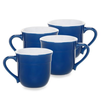 Emile Henry 4-Piece Mug Set in Azur