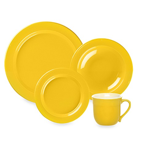 Emile Henry 4-Piece Plate Set in Citron