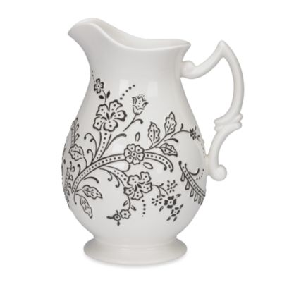 Oleg Cassini Ava 60-Ounce Footed Pitcher