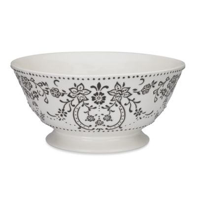 Oleg Cassini Ava 11-Inch Footed Bowl