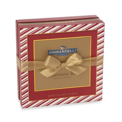 Ghiradelli® 58-Count Deluxe Peppermint Bark SQUARES™ Chocolates Gift Box