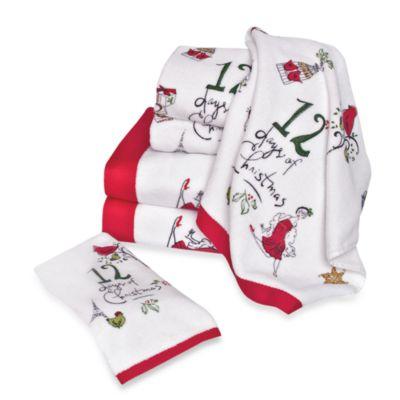 "Lenox® 12 Days of Christmas Fingertip Towel - 11"" x 18"""