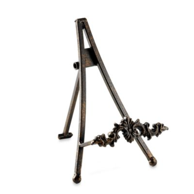 Antique Bronze Metal 7-Inch Easel with Caste Bracket