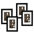 Prinz Soho 3-Inch x 5-Inch Black Wood Frame (Set of 4)