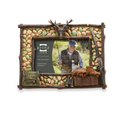 Prinz 6-Inch x 4-Inch Pebble Ridge Resin Hunting Frame
