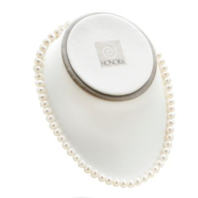"Honora Classics Sterling Silver, 6-6.5mm Freshwater Cultured Pearl 18"" Necklace"