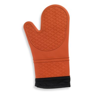 Silicone Quilted Oven Mitt in Rust