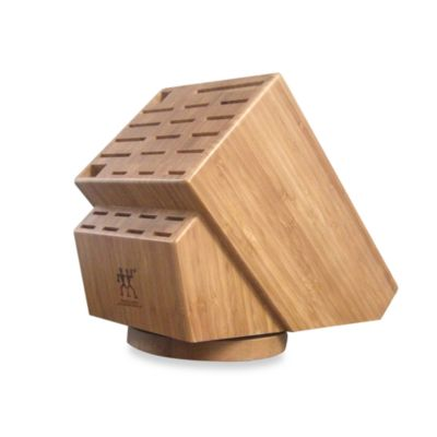 Zwilling J.A. Henckels 26-Slot Bamboo Swivel Knife Storage Block