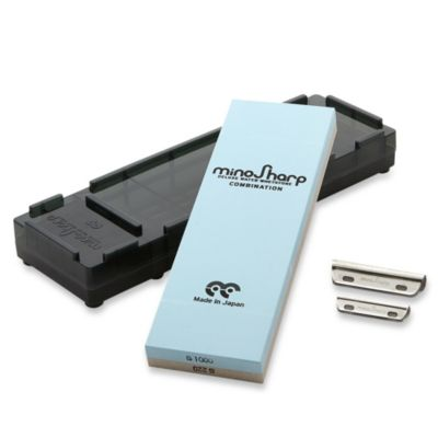 Global MinoSharp Combination 220/1000 Medium/Rough Whetstone Knife Sharpening Kit