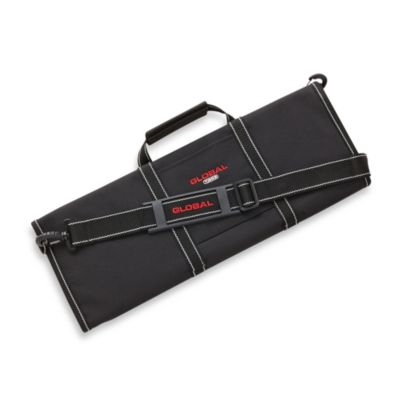 Global 16-Pocket Knife Roll with Removable Shoulder Strap and Handle