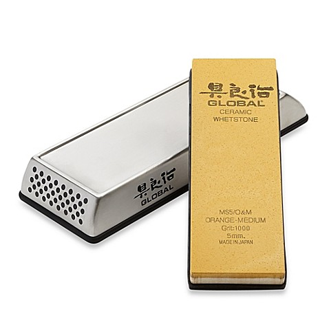 Global Stainless Steel Whetstone Holder with 5mm Stone