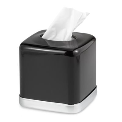 York Black Boutique Tissue Holder