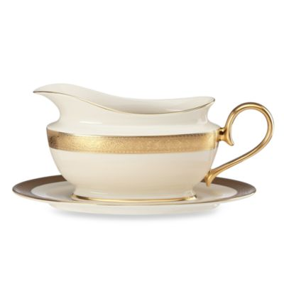 Lenox® Westchester™ 16-Ounce Sauce Boat and Stand