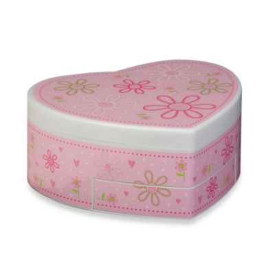Mele & Co. Heart-Shaped Musical Ballerina Jewelry Box