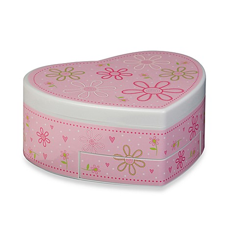 Mele & Co. Ruby Heart-Shaped Musical Ballerina Jewelry Box