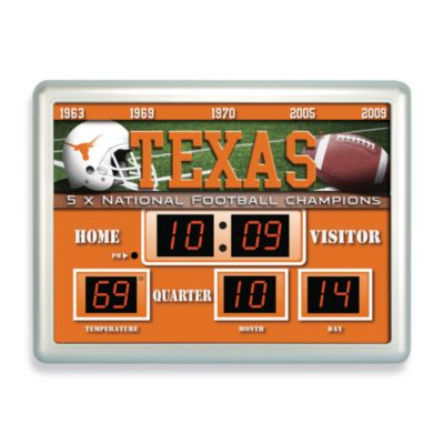 University of Texas Indoor/Outdoor Scoreboard Wall Clock