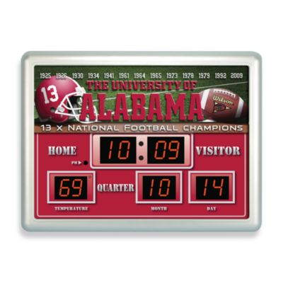 University of Alabama Indoor/Outdoor Scoreboard Wall Clock