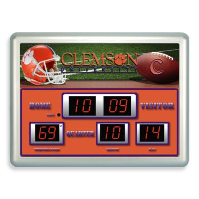 Clemson University Indoor/Outdoor Scoreboard Wall Clock