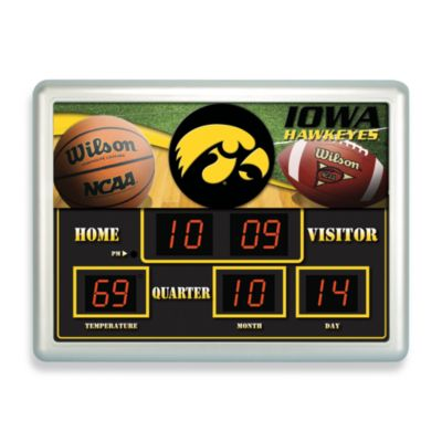 University of Iowa Indoor/Outdoor Scoreboard Wall Clock