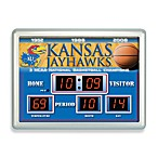 University of Kansas Indoor/Outdoor Scoreboard Wall Clock