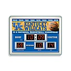 University of Kentucky Indoor/Outdoor Scoreboard Wall Clock