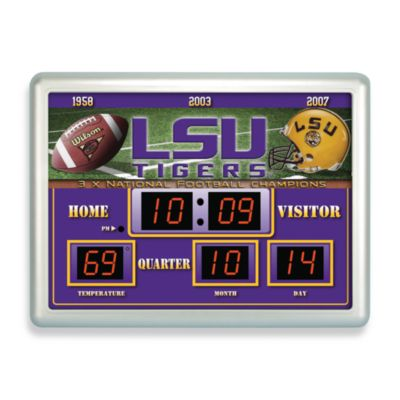 LSU Indoor/Outdoor Scoreboard Wall Clock