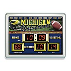 University of Michigan Indoor/Outdoor Scoreboard Wall Clock