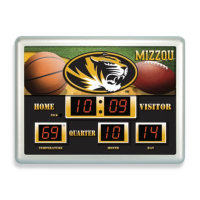University of Missouri Indoor/Outdoor Scoreboard Wall Clock