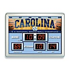 University of North Carolina Indoor/Outdoor Scoreboard Wall Clock