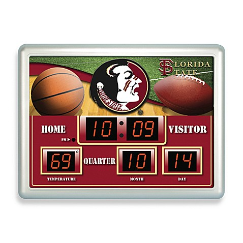 Florida State Indoor/Outdoor Scoreboard Wall Clock