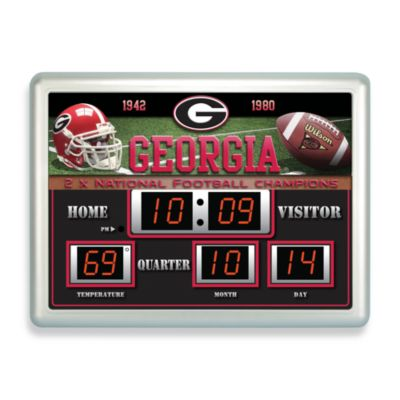 University of Georgia Indoor/Outdoor Scoreboard Wall Clock