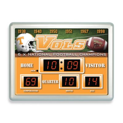 University of Tennessee Indoor/Outdoor Scoreboard Wall Clock