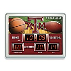 Texas A & M Indoor/Outdoor Scoreboard Wall Clock