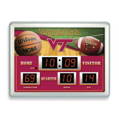 Virginia Tech University Indoor/Outdoor Scoreboard Wall Clock