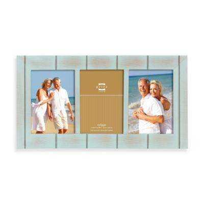 Prinz 3-Opening 5-Inch x 7-Inch Wood Frame in Seaside Aqua