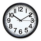 8-Inch Wall Clock with Black Trim