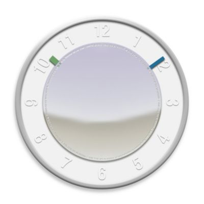 Mirror White Wall Clock