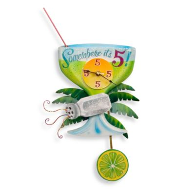 Somewhere It's 5:00 Margarita Wall Clock