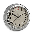 Geneva Chrome Finish Plastic Wall Clock