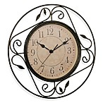 Geneva Wrought Iron Wall Clock