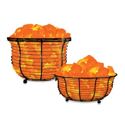 Himalayan Glow® Ionic Crystal Salt Basket Tall Lamp