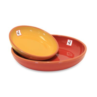 Costa Del Sol 2-Piece Serving Bowls in Red and Yellow