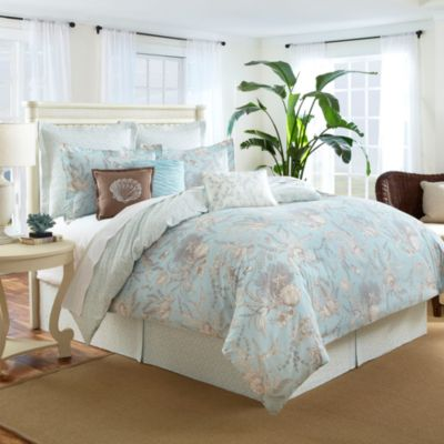 Royal Heritage Home® Quilted European Sham in Sea Cottage
