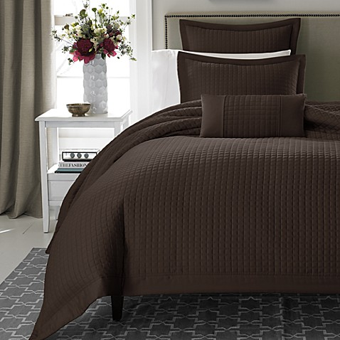 Real Simple® Retreat Duvet Cover, 100% Cotton Sateen, 300 Thread Count in Chocolate