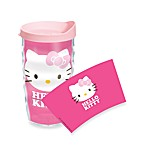 Tervis® Hello Kitty® Face Bow Wrap Wavy 10-Ounce Tumbler with Pink Lid