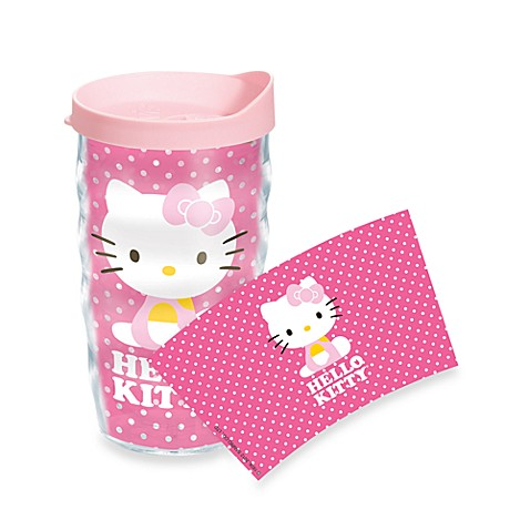 Tervis® Hello Kitty® Dots Wrap Wavy 10-Ounce Tumbler with Pink Lid
