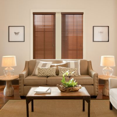 Kirsch Walnut Faux Wood 23-Inch W x 72-Inch L Blind