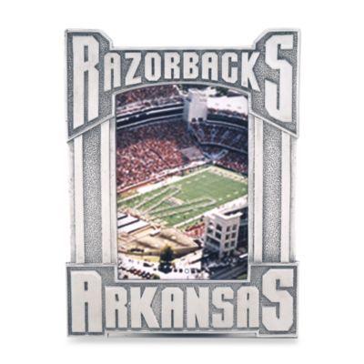 Arthur Court Designs University of Arkansas 4-Inch x 6-Inch Metal Frame
